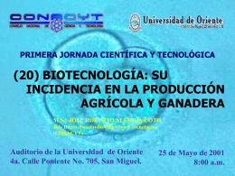 (20) BIOTECNOLOGÍA - Consejo Nacional de Ciencia y Tecnología