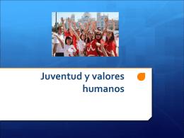 Juventud y Valores Humanos