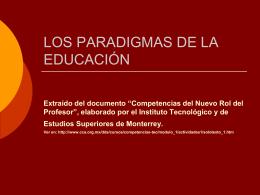 LOS PARADIGMAS DE LA EDUCACION
