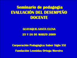 Competencia - Fundación Leonidas Ortega Moreira