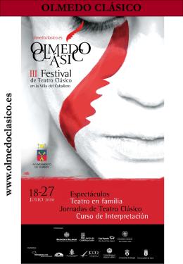 Dossier Compañías III Festival de Teatro Clásico de la Villa de