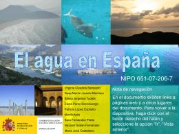 El agua en España - Ministerio de Educación, Cultura y Deporte