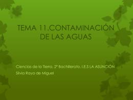 tema 11.contaminación de las aguas