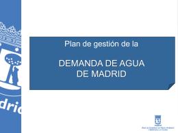 Plan Gestión Ahorro Agua