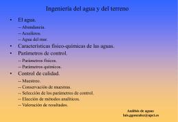 Análisis de aguas (presentación)