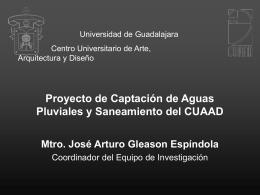 Proyecto de Captación de Aguas Pluviales y Saneamiento del CUAAD