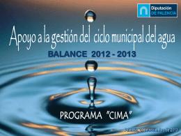 Balance ciclo del agua - Diputación de Palencia