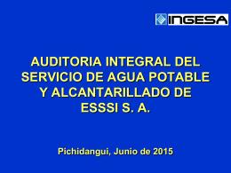 AUDITORIA INTEGRAL DEL SERVICIO DE AP Y