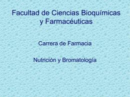 AGUA EN LOS ALIMENTOS - Facultad de Ciencias Bioquímicas y