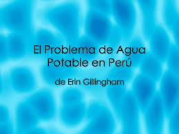 Proyecto - Agua-Problema-en-Peru
