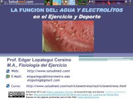 Agua y Electrólitos