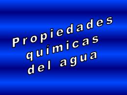Propiedades Químicas del Agua - CubaEduca