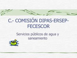 comisión dipas-ersep-fecescor servicio publico del agua