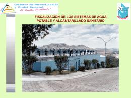 fiscalización de los sistemas de agua potable y