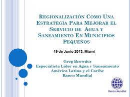 Regionalización como una Estrategia para Mejorar el Servicio de