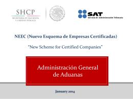 (Nuevo Esquema de Empresas Certificadas, NEEC).