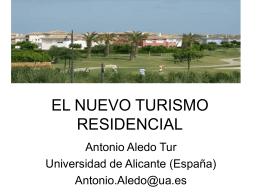 EL NUEVO TURISMO RESIDENCIAL
