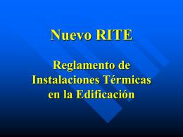 Nuevo RITE