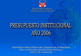 Ministerio Público - Congreso de la República del Perú
