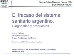Presentación 3: Análisis del mercado de la salud en Argentina
