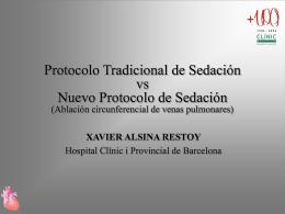 Protocolo de Sedación