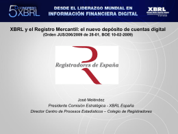 D. José Meléndez - Asociación XBRL España
