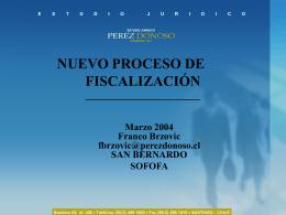 NUEVO PROCESO DE FISCALIZACIÓN