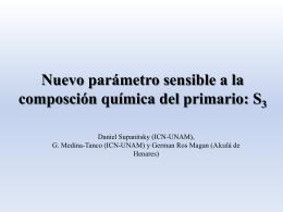 D. Supatnitski, Nuevo Parametro Composición