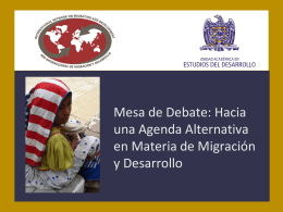 Migración y Desarrollo en México: hacia un nuevo enfoque analítico