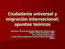 Ciudadanía universal: hacia un nuevo paradigma en la era