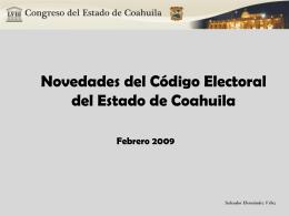 Nuevo Código Coahuila