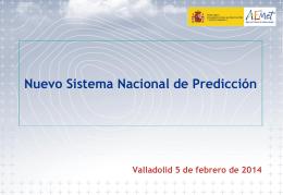 Nuevo Sistema de Predicción de la AEMET