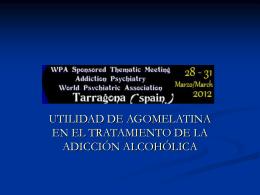Utilidad de Agomelatina en el tratamiento del Alcoholismo