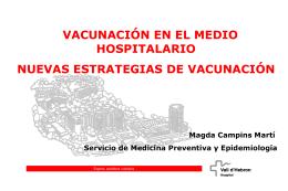 Vacunación en el medio hospitalario