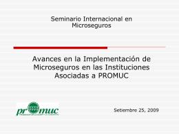 Avances en la implementación de microseguros en las