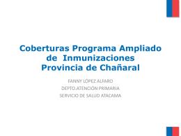 coberturas vacunas 2012 provincia de Chañaral