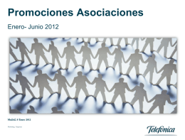 oferta asociaciones negocio fijo. primer semestre de 2012