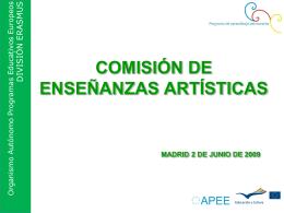 Presentación Participación Artísticas. Convocatoria 2008
