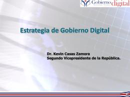 Jornada para la Definición de la Estrategia de Gobierno Digital
