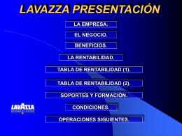 LAVAZZA LA EMPRESA - Ariza Vending Iberica