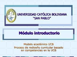 Módulo y rediseño UCB File - Postgrado Universidad Católica