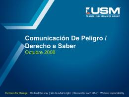 Comunicación De Peligro /Derecho a Saber(Hazard