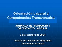 Competencia personal - Institut de Ciències de l`Educació