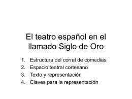 El teatro español en el llamado Siglo de Oro