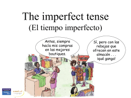 The imperfect tense - Gordon State College