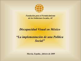 La discapacidad visual en México
