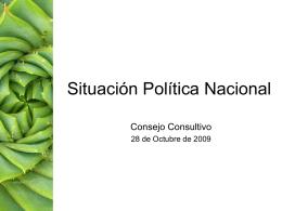 Situación política nacional