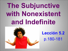 The Subjunctive with Nonexistent and Indefinite