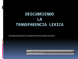 Transparência lexical