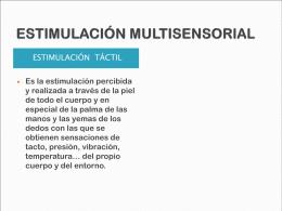 ESTIMULACIÓN MULTISENSORIAL 2 - LOGOPEDIA